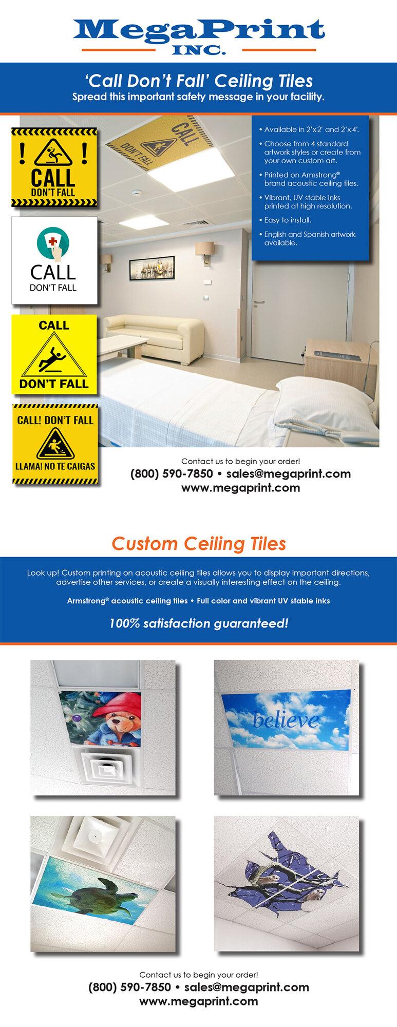 'Call Don't Fall' CeilingTiles